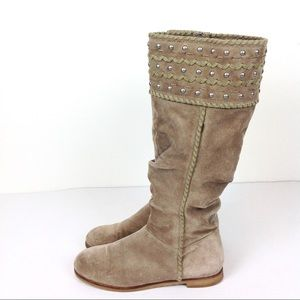 Boutique 9 Suede Studded Boots 7. 5 @